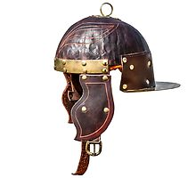 Ancient Roman military helmet by luckypixel