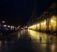 Corfu Liston at Night by fruitcake