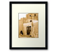 SITTING,WAITING,WATCHING (RESPECT) Framed Print