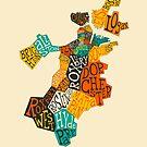 BOSTON NEIGHBORHOODS by JazzberryBlue