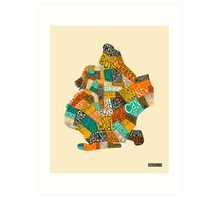 BROOKLYN NEIGHBORHOODS Art Print