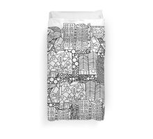 Doodle and the city Duvet Cover