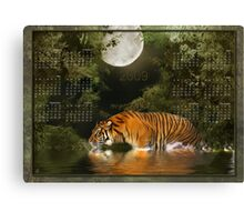 Bengal Tiger (2) - Month at a Glance 2009 calendar Canvas Print