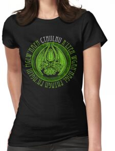Invoking Cthulhu Womens Fitted T-Shirt