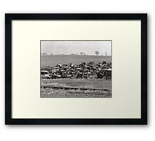 Automobile Graveyard, 1935 Framed Print