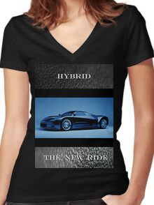 Hybrid  007 Women's Fitted V-Neck T-Shirt