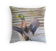 Mr. Malard Throw Pillow