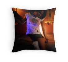 Torn between two worlds Throw Pillow