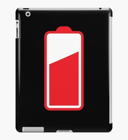 Battery half full in RED  iPad Case/Skin