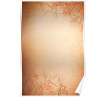 Sepia tone lily floral cloth abstract Poster