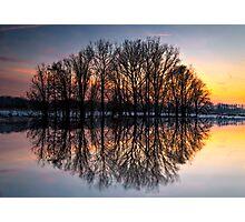 reflection, sunset Photographic Print