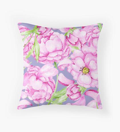 Peony pattern Throw Pillow