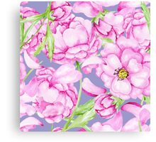 Peony pattern Canvas Print