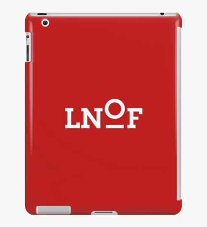 LNOF White Logo on Power Red iPad Case/Skin