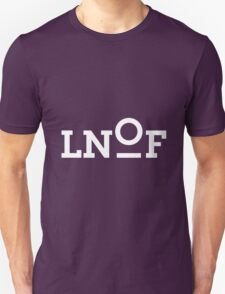 LNOF White Logo on Aubergine Purple Unisex T-Shirt