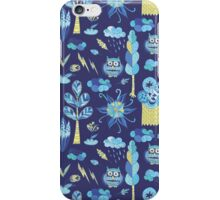 Funny kids background with forest life iPhone Case/Skin