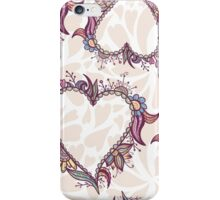 Blossoming Heart pattern iPhone Case/Skin