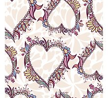 Blossoming Heart pattern Photographic Print
