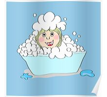 Baby-girl in foam  Poster