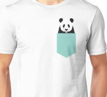 Panda - mint - cute black and white animal portrait,  design, illustration, animal cell phone, case, panda,  Unisex T-Shirt