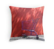 Purple Trolley Red Wall Throw Pillow