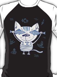 Sea cat illustration  T-Shirt