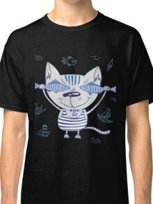 Sea cat illustration  Classic T-Shirt