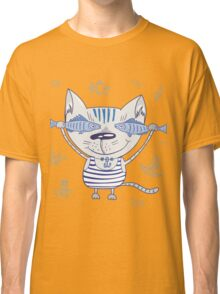 Sea cat illustration  Classic T-Shirt