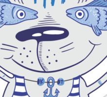 Sea cat illustration  Sticker