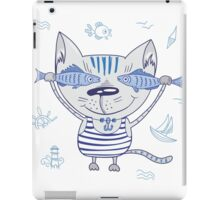 Sea cat illustration  iPad Case/Skin