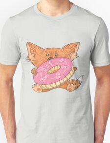 Baby fox with donut Unisex T-Shirt