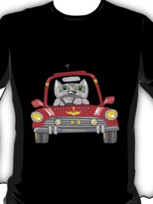 Cat on the car T-Shirt