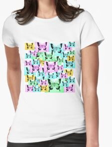 Carefree Butterflies Womens Fitted T-Shirt
