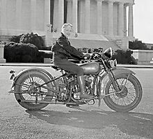 Girl With Her Motorcycle, 1937 by historyphoto