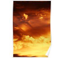 Sunrising on fire Poster
