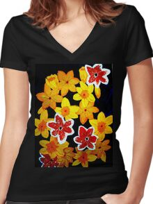 Daffs Women's Fitted V-Neck T-Shirt