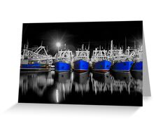 Kailis boats in fremantle Greeting Card