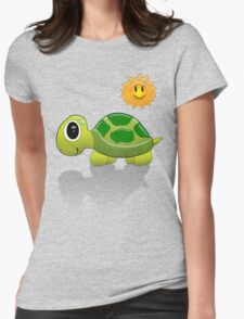 Sun Turtle Tee Womens Fitted T-Shirt