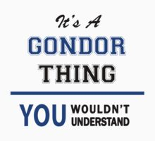 It's a GONDOR thing, you wouldn't understand !! by thinging