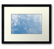 Blue abstract of condensation water Framed Print