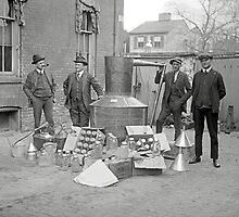Prohibition Agents with Moonshine Still, 1922 by historyphoto