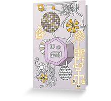 Machine purple Greeting Card