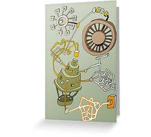 machine dark green Greeting Card
