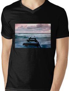 Sunset at the Mentone Pier Mens V-Neck T-Shirt