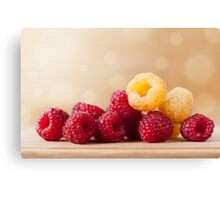 red and golden raspberry fruits Canvas Print