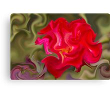 abstract roses in the garden Canvas Print