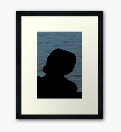 people on the beach Framed Print