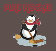 play hockey penguin by Kevin Meldrum