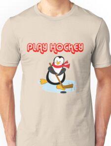 play hockey penguin Unisex T-Shirt