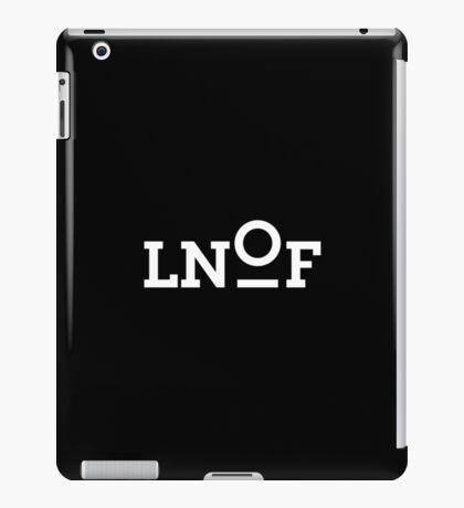 LNOF White on Black iPad Case/Skin